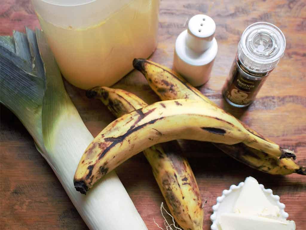 Sopa de Plátano Macho