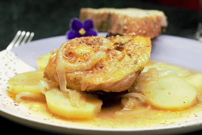 Pollo a la Mostaza y Miel Maple
